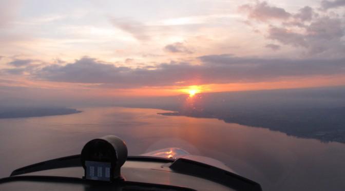 Sunset over geneva Lake